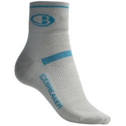 Icebreaker Multisport Superlite Mini Socks - Merino Wool, Quarter-Crew (For Women) in Silver