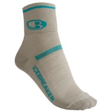 Icebreaker Multisport Ultralite Mini Socks - Merino Wool, Quarter-Crew (For Women) in Silver/Gulf - 2nds