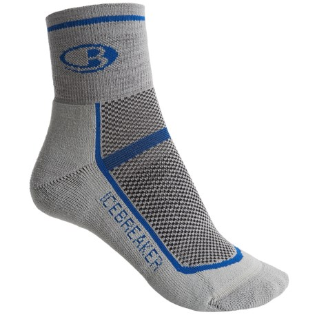 Icebreaker Multisport Ultralite Mini Socks - Merino Wool, Quarter-Crew (For Women) in Silver/Gulf