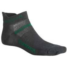 Icebreaker Multisport Ultralite Socks - Merino Wool, Below-the-Ankle (For Men) in Oil/Cricket/Oil - 2nds