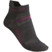 Icebreaker Multisport Ultralite Socks - Merino Wool (For Women) in Oil/Cerise/Oil - 2nds