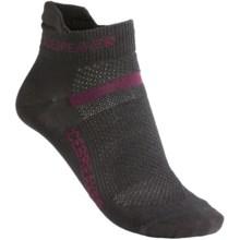 Icebreaker Multisport Ultralite Socks - Merino Wool (For Women) in Oil/Cerise/Oil - 2nds