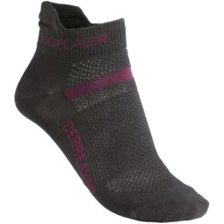 Icebreaker Multisport Ultralite Socks - Merino Wool (For Women) in Oil/Cerise/Oil