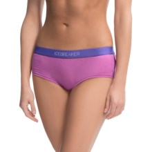 Icebreaker Nature 150 Sprite Hot Pants Underwear - Merino Wool (For Women) in Sweetpea/Lupin - Closeouts