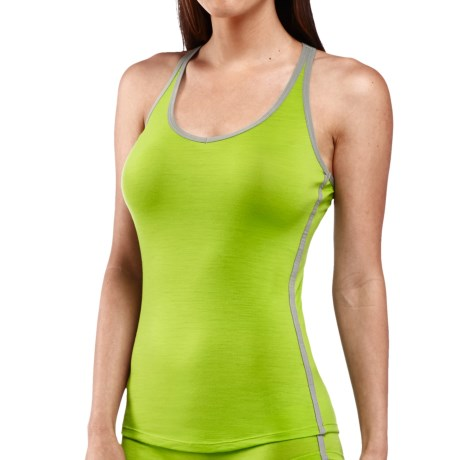 Icebreaker Nature 150 Sprite Tank Top - Merino Wool, Racerback (For Women) in Honeydew