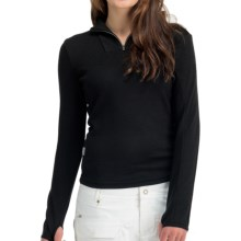 Icebreaker Nexus Sweater - Merino Wool, UPF 50+, Zip Neck (For Women) in Black - Closeouts