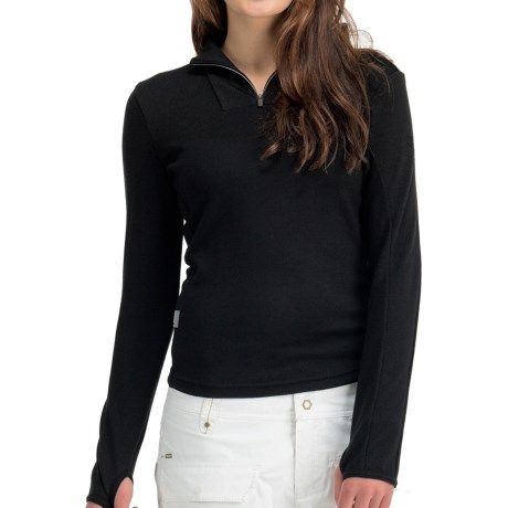 Icebreaker Nexus Sweater - Merino Wool, UPF 50+, Zip Neck (For Women) in Black