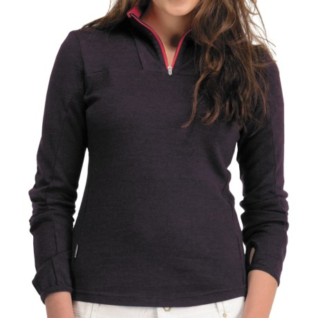 Icebreaker Nexus Sweater - Merino Wool, UPF 50+, Zip Neck (For Women) in Bordeaux