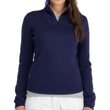 Icebreaker Nexus Sweater - Merino Wool, UPF 50+, Zip Neck (For Women) in Galaxy - Closeouts