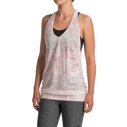 Icebreaker Nomi Palm Dots Tank Top - Merino Wool, V-Neck (For Women) in Snow/Camellia/Camellia - Closeouts