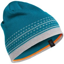 Icebreaker Nova Beanie - Merino Wool (For Men and Women) in Alpine/Blizzard Heather - Closeouts
