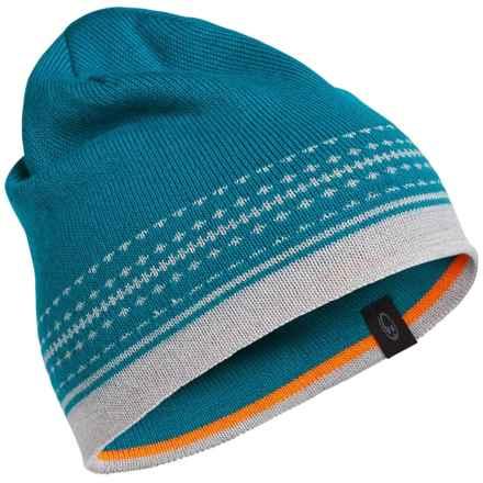 Icebreaker Nova Beanie - Merino Wool (For Men and Women) in Alpine/Blizzard Heather - Closeouts