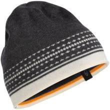 Icebreaker Nova Beanie - Merino Wool (For Men and Women) in Jet Heather/Snow - Closeouts