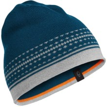 Icebreaker Nova Beanie - Merino Wool (For Men and Women) in Night/Blizzard Heather - Closeouts
