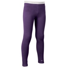 Icebreaker Oasis Base Layer Bottoms- UPF 30+, Merino Wool (For Little and Big Kids) in Lotus/White - Closeouts