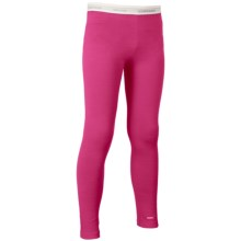 Icebreaker Oasis Base Layer Bottoms- UPF 30+, Merino Wool (For Little and Big Kids) in Magenta/White - Closeouts
