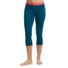 Icebreaker Oasis Base Layer Bottoms - UPF 30+, Merino Wool (For Women) in Night/Grapefruit - Closeouts