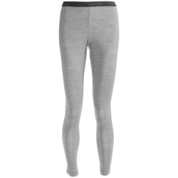 Icebreaker Oasis Base Layer Leggings - Merino Wool, Lightweight (For Women) in Blizzard