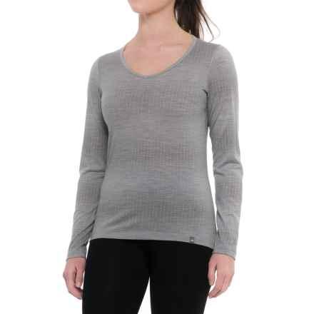 Icebreaker Oasis Matrix Base Layer Top - Merino Wool, Long Sleeve (For Women) in Blizzard Heather - Closeouts