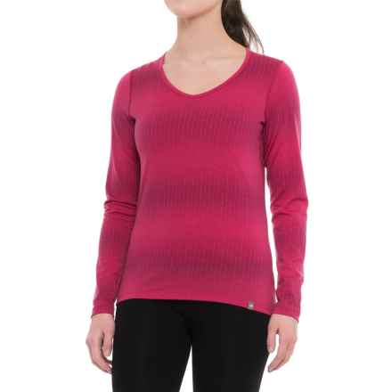 Icebreaker Oasis Matrix Base Layer Top - Merino Wool, Long Sleeve (For Women) in Pop Pink - Closeouts