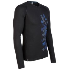 Icebreaker Oasis Print Base Layer Top - Lightweight, Merino Wool, Long Sleeve (For Men) in Intersect Black - Closeouts