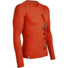 Icebreaker Oasis Print Base Layer Top - Lightweight, Merino Wool, Long Sleeve (For Men) in Intersect Cajun - Closeouts