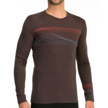 Icebreaker Oasis Surge Base Layer Top - Merino Wool, Long Sleeve (For Men) in Walnut - Closeouts