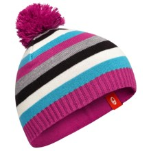 Icebreaker Orbit Beanie Hat - UPF 30, Merino Wool-Acrylic (For Little and Big Kids) in Metro Heather/Magenta/Lotus - Closeouts