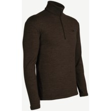 Icebreaker Original Zip Base Layer Top - Merino Wool, Zip Neck, Long Sleeve (For Men) in Timber - Closeouts