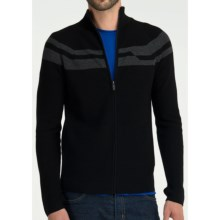 Icebreaker Orion Cardigan Sweater - Merino Wool (For Men) in Black - Closeouts