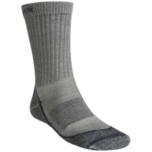 Icebreaker Outdoor Lite Crew Socks- Merino Wool, 2-Pack, Crew (For Men) in 346 Oil/Silver/Black - 2nds