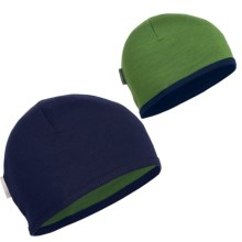 Icebreaker Pocket 200 Beanie Hat - Merino Wool (For Kids and Youth) in Admiral/Grass - Closeouts