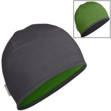 Icebreaker Pocket 200 Beanie Hat - Merino Wool, Reversible (For Men and Women) in Monsoon/Grass - Closeouts