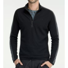 Icebreaker Polaris Shirt - Merino Wool, Zip Neck, Long Sleeve (For Men) in Black - Closeouts