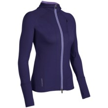 Icebreaker Quantum GT260 Hoodie Sweatshirt - UPF 50+, Merino Wool, Full Zip (For Women) in Horizon - Closeouts