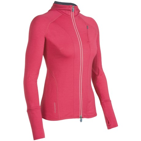 Icebreaker Quantum GT260  Sweatshirt - UPF 50+, Merino Wool, Full Zip (For Women) in Cherub