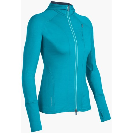 Icebreaker Quantum GT260  Sweatshirt - UPF 50+, Merino Wool, Full Zip (For Women) in Black