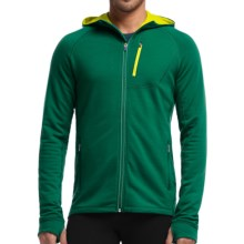 Icebreaker Quantum Hoodie - UPF 40+, Merino Wool (For Men) in Bottle/Chartreuse - Closeouts