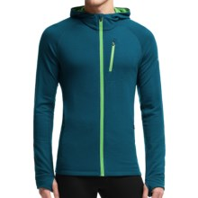 Icebreaker Quantum Hoodie - UPF 40+, Merino Wool (For Men) in Night/Balsam/Balsam - Closeouts