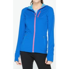 Icebreaker Quantum Jacket - Merino Wool, UPF 40+, Hooded (For Women) in Force/Aquamarine/Shocking - Closeouts