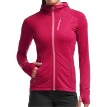 Icebreaker Quantum Jacket - Merino Wool, UPF 40+, Hooded (For Women) in Raspberry/Shocking/Shocking - Closeouts
