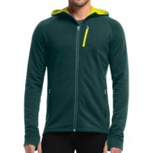 Icebreaker Quantum Plus Water-Resistant Hoodie - Merino Wool (For Men) in Pine/Chartreuse/Chartreuse - Closeouts