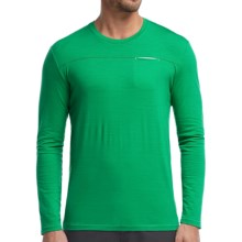 Icebreaker Quattro Shirt - UPF 30+, Stretch Merino Wool, Long Sleeve (For Men) in Lucky - Closeouts