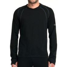 Icebreaker Quest GT 200 Base Layer Top - UPF 50+, Merino Wool, Long Sleeve (For Men) in Black - Closeouts