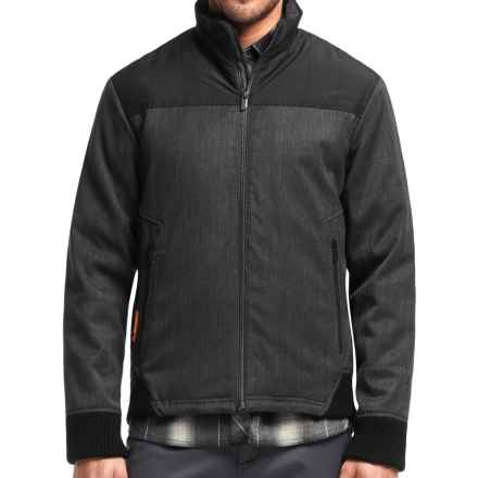 Icebreaker Ranger MerinoLOFT Bomber Jacket (For Men) in Jet Heather/Black/Black - Closeouts