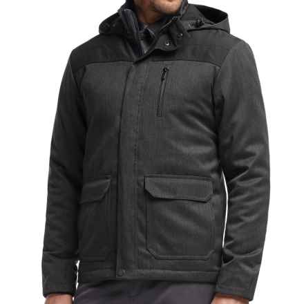 Icebreaker Ranger MerinoLOFT Hooded Jacket - Merino Wool, Insulated (For Men) in Jet Heather/Black - Closeouts