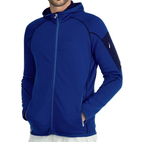 Icebreaker Real Fleece Sierra Hooded Jacket - Merino Wool (For Men) in Cobalt/Admiral