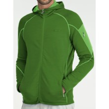 Icebreaker Real Fleece Sierra Hooded Jacket - Merino Wool (For Men) in Grass/Turf - Closeouts