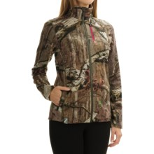 Icebreaker RealFLEECE 200 Cascade Sweatshirt - Merino Wool, Full Zip (For Women) in Mossy Oak Break-Up Infinity/Berry - Closeouts