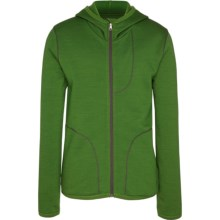 Icebreaker RealFleece 260 Camper Hoodie Jacket - UPF 50+, Merino Wool (For Kids) in Grass - Closeouts